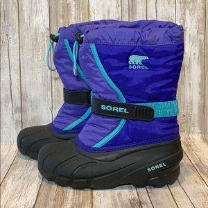 Sorel Girl's Sz 4 Snow Boots Waterproof Insulated